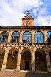 Old medieval library building at city of Bologna Stock Photos