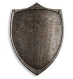 Old medieval metal shield with clipping path Royalty Free Stock Photography