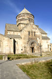 Old medieval monastery. Against blue sky background Stock Photos