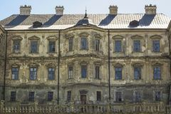 Old medieval Pidhirtsi Castle 17th century in Ukraine Royalty Free Stock Images