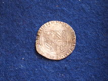 Old medieval silver coin Royalty Free Stock Image