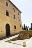 Old medieval small town in Pienza, Tuscany Stock Photos