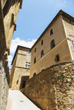 Old medieval small town in Pienza, Tuscany Royalty Free Stock Photos