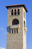 Old medieval steeple at Rhodes, Greece Royalty Free Stock Photos