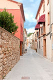 Old medieval street, Spain Royalty Free Stock Image