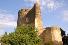 Old medieval tower. In Baku, Azerbaijan royalty free stock photos