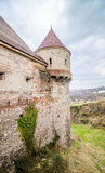 Old medieval tower and wall at Crovinilor Castle Royalty Free Stock Photography