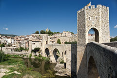 The old medieval town of Besalu Royalty Free Stock Photo