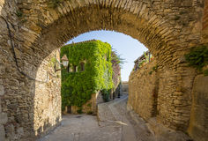 Old medieval town of Peratallada, Spain Royalty Free Stock Image