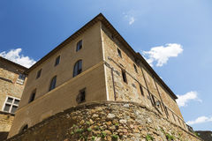 Old medieval town Pienza in Tuscany Stock Images