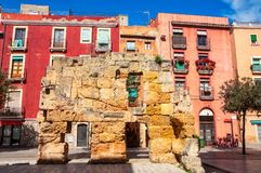 Old medieval wall in Tarragona, Spain Stock Photography