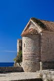 Old medieval watchtower in the old town of Budva Stock Images