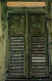 Old medieval window shutters Stock Photography