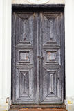 Old medieval wooden door Stock Photo