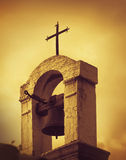 Old Mediterranean Church top, artistic toned Stock Images