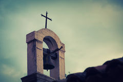 Old Mediterranean Church top, artistic toned Royalty Free Stock Image
