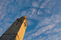 Old mediterranean church tower Stock Photography
