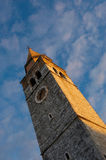 Old mediterranean church tower Royalty Free Stock Image