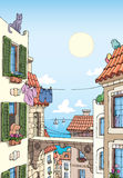 Old Mediterranean city near the sea. Royalty Free Stock Photos
