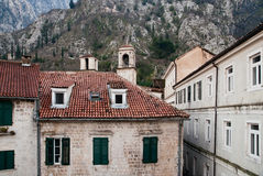 The old mediterranean houses. Royalty Free Stock Photo
