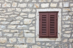 Old Mediterranean type window Stock Photo