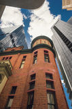 Old meets new in the city, Royalty Free Stock Photos