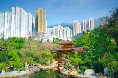 Old meets New, Nan Lian Garden, Hong Kong Stock Images