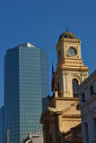 Old meets new in the Plaza de Armas Royalty Free Stock Photo