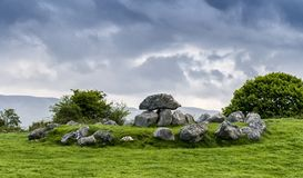 Old megalithic tombs at Carrowmore near Sligo stock images