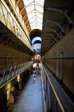 Old Melbourne Gaol interior on a perspective, Australia Stock Image