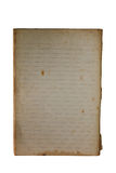 Old memo book to reveal yellowing, blank, lined. Stock Image