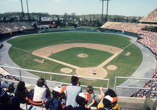 Old Memorial Stadium, Baltimore, MD. Baltimore Orioles old stadium, Memorial Park. (Image taken from color slide royalty free stock photography