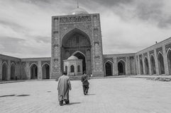 Old men inside of Big-Mosque Stock Photography