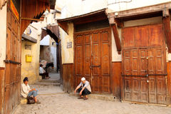 Old men in the medina Stock Photography