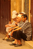 Old men in the medina Stock Photo
