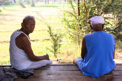 Old men: Rual India. Royalty Free Stock Photos