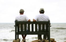Old men and the sea stock photography