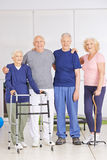 Old men and senior women in nursing home Stock Photography