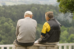 Old men talking Royalty Free Stock Photo