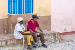 Old men in Trinidad, Cuba Stock Photo