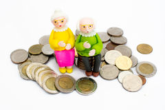 Old men, women Royalty Free Stock Photography