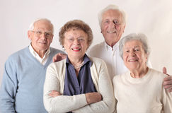 Old men and women Royalty Free Stock Photo