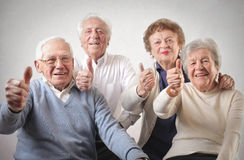 Old men and women Royalty Free Stock Image