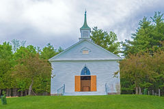 Old Mennonite church in Kitchener, Ontario. Old Mennonite church on the hill in Kitchener, Ontario, Canada Stock Photo
