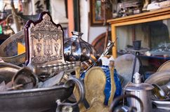 An old Menorah in an antique store Royalty Free Stock Image
