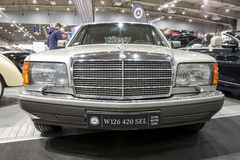 Old Mercedes car on static display at the International Fair Royalty Free Stock Photography