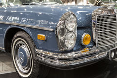Old Mercedes car on static display at the International Fair Royalty Free Stock Photo