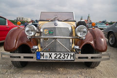 Old Mercedes at Munich spring festival Royalty Free Stock Photo