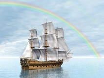 Free Old Merchant Ship - 3D Render Stock Photo - 35990800