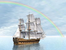 Old merchant ship - 3D render Stock Photo